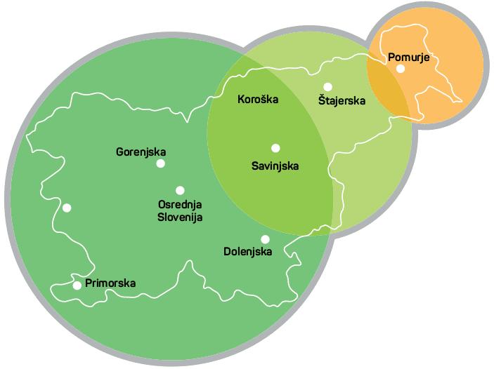 Agrosaat - Regije
